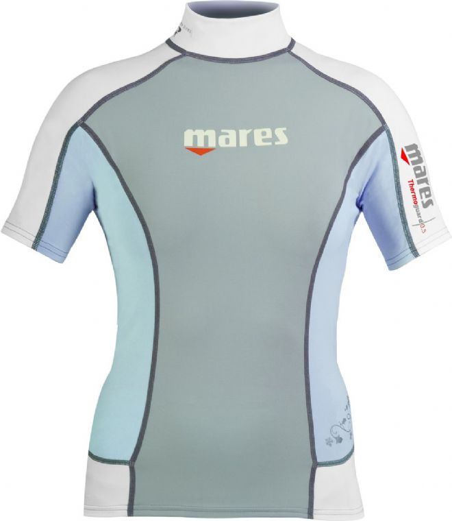 Mares - Thermal Rash Guard Vest - Ladies Short Sleeve - Blue Fog (Grey)